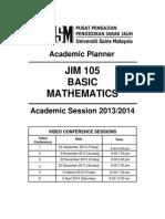 PJJ USM-JIM 105 Academic Planner