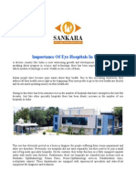 Importance of Eye Hospitals in India