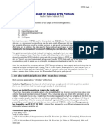 Help Sheet for Spss Prntouts