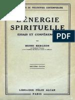 Bergson Energie Spirituelle