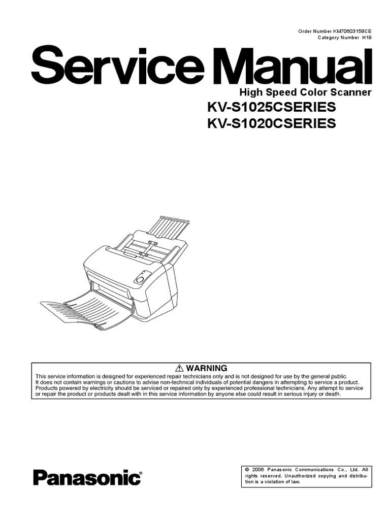 Panasonic Kv S1025c Scanner Image Soldering Scr Dc Motor Speed Control Circuit Using Iccmos