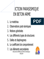 Construction Parasismique en Beton Arme