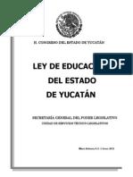 Ley Educacion Estado Yucatan