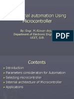 leindustrial automation using microcontroller