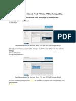 Cara Memasukkan File Microsoft Word Dalam Blogger