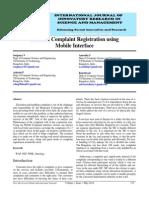 IJIRSM SOUJANYA v Efficient Complaint Registration Using Mobile Interface