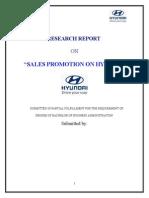 Sales Promotion on Hyundai
