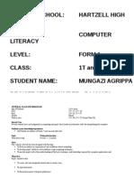 Form One Schemes