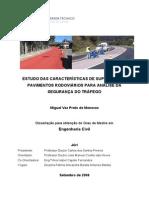[Tese] Caracteristicas Da Superficie de Pavimentos Rodoviarios (IST)