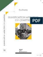 La Signification Affective Du Quartier - Kaj Noschis