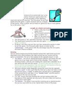 tennis study sheet