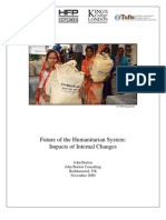 Future of the Humanitarian System -- Impacts of Internal Changes