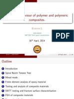 Fracture behaviour of polymeric composites