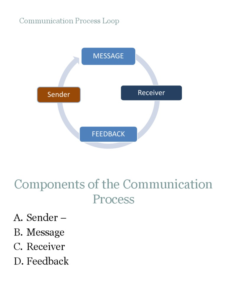 what are the components of the communication process