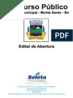 Prefeitura Monte Santo Ba Cp 01 2012