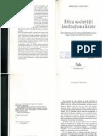 5. Etica Societatii Institutionalizate (Bogdan Diaconu)