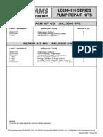 11165302 30963 Rev 7-09 LD200-316 Parts List Repair kits