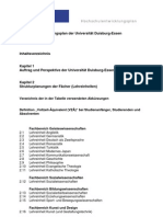 Inhaltsverzeichnis Hochschulentwicklungsplan