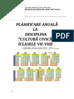 Planificare Cultura Civicaclasa a Viia