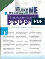 Marine Bonanza in Kenya's South Coast