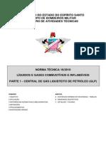 NT 18-2010 Líquidos e Gases Combustíveis e Inflamáveis, Parte 1 - Central de GLP