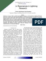 Schumann Resonances in Lightning Research
