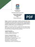 Ementa - Sociologia Brasileira