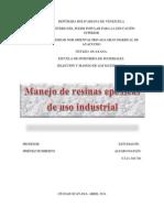 Manejo de Resinas Epóxicas de Uso Industrial (Trabajo)