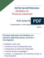 FM - Unidade I - Medicoes Em Processos Industriais - 01-2014 - Alunos