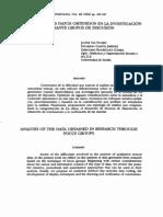 Análisis de Datos de Grupos de Discusión