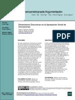 Dimensiones Discursivas en La Apropiación Social de Innovaciones