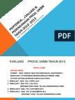 Evaluasi Plan Ukbm 2013