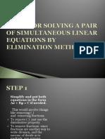 method of elimination