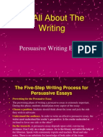 It's All About the Writing Persuasive Essay