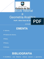Cálculo Vetorial Apostila