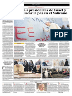 El Papa Invita a Los Presidentes de Israel y Palestina a Buscar La Paz en El Vaticano