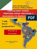 Programa I Encuentro Interdisciplinario Sobre Cuestión Social y Políticas Públicas VF