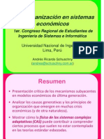 Autoorganización en sistemas económicos - Phd. Andrés Schuschny