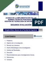 El avance de las normas técnicas peruanas de la Gestión de las TI - Ing. Emigdio Alf