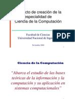 Implementación de la carrera de Ciencia de la Computación en la UNI - PhD. Javier Solano
