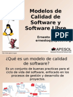 Modelos de calidad y el software libre - Tec. Ernesto Quiñones