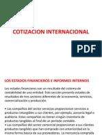 Cotizacion Internacional