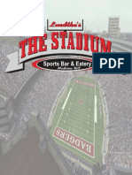 Stadium Bar Menu - Madison, WI