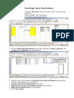 Excel Form Design_Step by Step Procedures