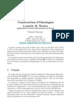 Construction d'Ontologies à partir de Textes_2007