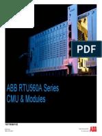 Abb Rtu560a Cmu & Modules
