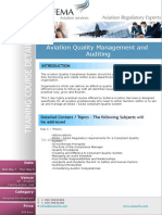 Aviation Quality Management and Auditing