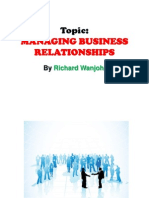 Key Accounts Management - Topic  Managing Business Relationships