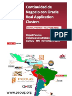 Oracle RAC - Oracle Real Aplications Clusters - Ing. Miguel Palacios Guerra