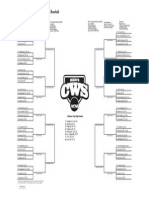 NCAA Baseball Tournament Bracket
